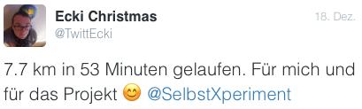 Ecki Selbstexperiment Tweet